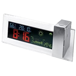 StealStreet SS-KD-959, Battery Powered Colored LCD Clock with Weather and Forecast Display