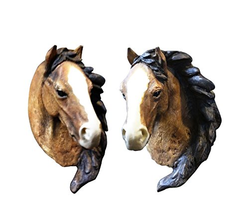 Great 2 Piece Horse Farm Animal Fridge Ref Magnet Set Lover Rider Fan Unique Cool Fun Top Clever Popular Inexpensive Best Stocking Stuffer Filler Present Idea for Kid Children Family Friend Mom Dad by Mill Creek Studios