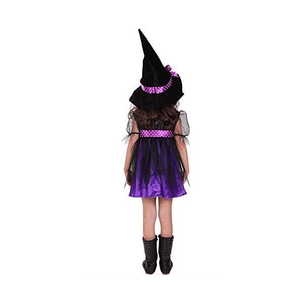 Costume Strega Bambina Ragazze Halloween Vestito con Cappello Bambino Strega Costume Abito Tutu Costume di Halloween… 3 spesavip