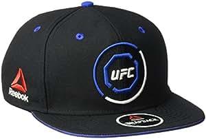 Reebok UFC Adult Unisex Authentic Flat Brim Snapback, One Size, Black/Blue