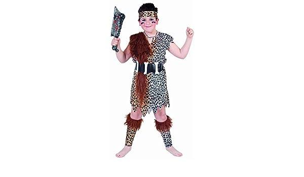 Juguetes Fantasia - Disfraz cavernicola niño 7-9 años: Amazon.es ...