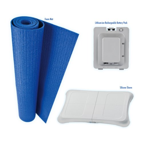 CTA Digital 4 in 1 Combo Kit for Wii Fit U & Wii Fit (includes Protective Case With Neck Strap for Wii U )