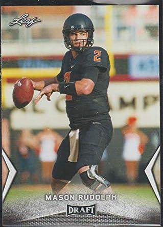 b3f01af72 Amazon.com  2018 Leaf Draft Mason Rudolph Steelers Rookie Football ...