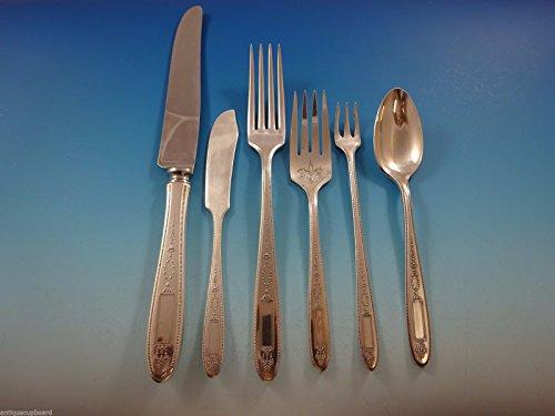 Grosvenor by Community Plate Silverplate Flatware Set Service 12 Dinner 80 Pcs