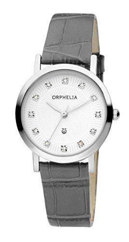 ORPHELIA Women's Analogue Moonlight Grey Leather imitation-11607
