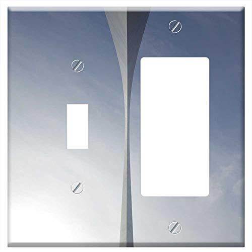 (1-Toggle 1-Rocker/GFCI Combination Wall Plate Cover - Bridge Arch Underneath Under Concrete Archite)
