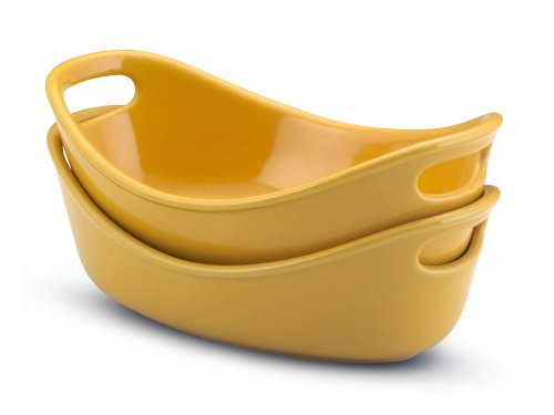 - Rachael Ray Bubble and Brown Individuals Set of 2 Stoneware 12-Oz. Au Gratin Dishes