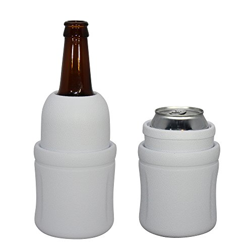 Monster Cooler Beverage - Can and Bottle Holder Traps Frigid Air, Keeps Drinks Cold for Hours - Soft, Lightweight and Virtually Indestructible - Convenient, Easy to Clean