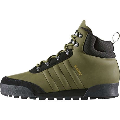 Nieuwe Adidas Heren Jake Laars 2,0 Rubber Lederen Groene Olijf Lading / Zwart / Clear Bruin Leer