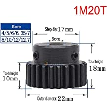 1M 50T Φ8 Steel Helical Bevel Wheel Motor Gear Pinion Large Torque 90° Gearing