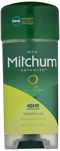 Mitchum Advanced Gel Anti-Perspirant & Deodorant, Mountain Air, 3.4 Ounce (Pack of 4) (Gel Air)