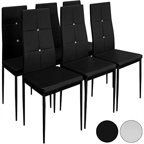 6 Esszimmerstühle Stuhl Hochlehner Polsterstuhl Sitzgruppe Essgruppe  Esszimmerstuhl Schwarz. EAN 4027929289589