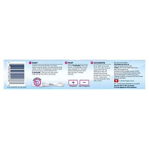 Large Product Image of Clearblue Rapid Detection Pregnancy Test, 3 Count Prueba de embarazo Rapid Detection Clearblue