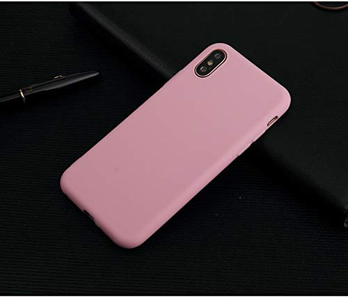 Pegasus iPhone X/iPhone Xs Phone Case Silicone Gel Rubber TPU Full Body Protection Shockproof Cover Case for Apple (Pink, iPhone X/XS)