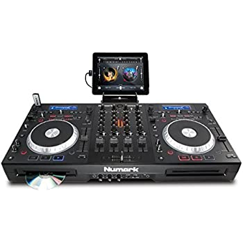 Numark Mixdeck Quad | 4-Channel Universal DJ System for CD, MP3, USB, software, and iPad