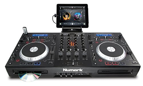 Numark Mixdeck Quad | 4-Channel Universal DJ System for CD, MP3, USB, software, and iPad Usb Dj Controller Packages