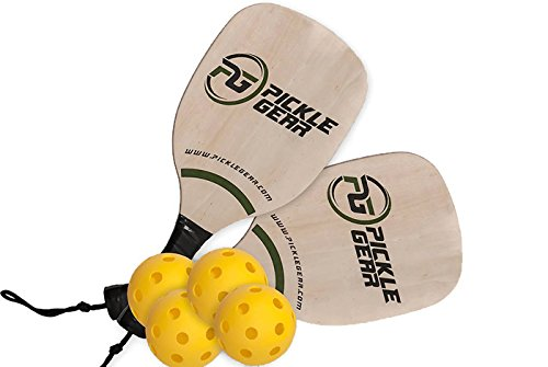 Pickle Gear Wood Pickleball Paddle Bundle by Picklegear