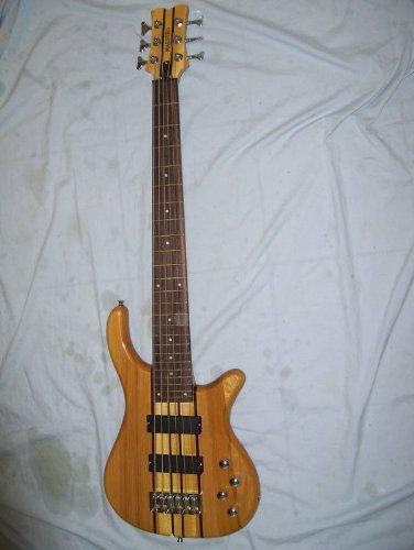 Electric Bass Guitar, 6 String, Active Pickups, Neck Through Body 6 String Active Bass Guitar