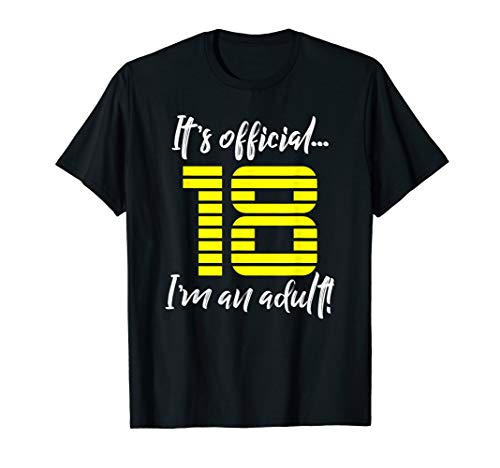 Funny 18th Birthday T-Shirt Gift Idea for Men or Boys ()