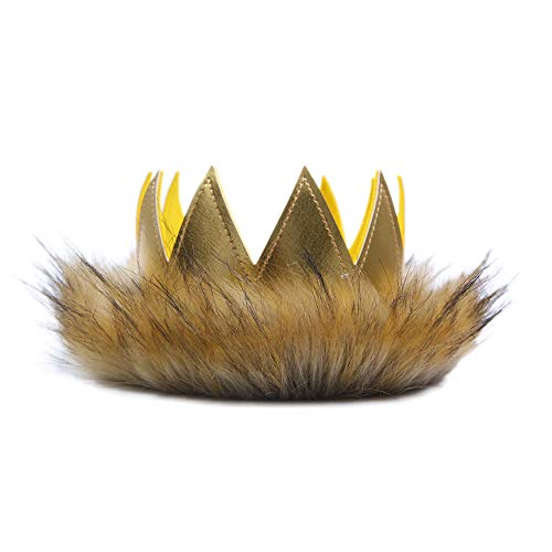 (Where The Wild Things are Party Supplies - Wild One Crown for Birthday Decorations|| Where The Wild Things are Birthday|| Birthday Souvenir and Gifts for Kids (King of The Jungle))