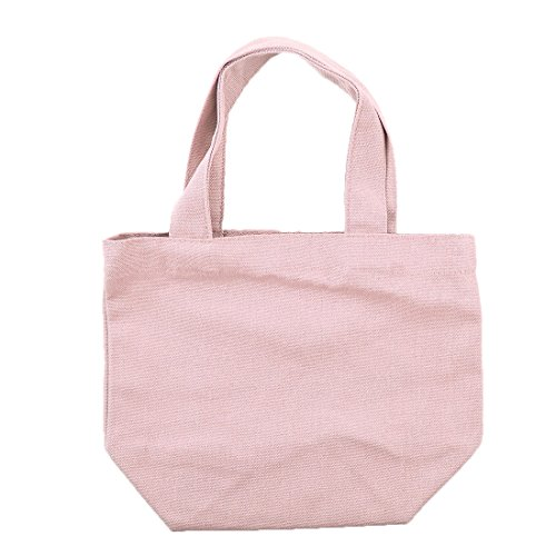 Sourcingmap Sundries Light Lunch School Travel Handbag Bag Canvas Cosmetic Storage Pink Office Holder Box Tote WxWTnrwq