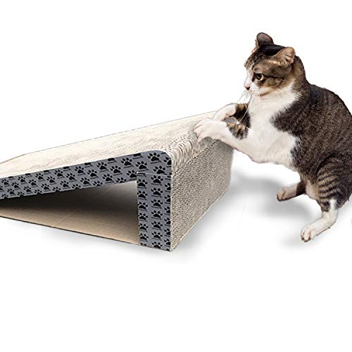 (iPrimio Cat Scratcher Ramp - Foldable for Travel and Easy Storage - Great for Cats Playing Over, Laying, and Scratching - Patent Pending Design (1 Pack) )