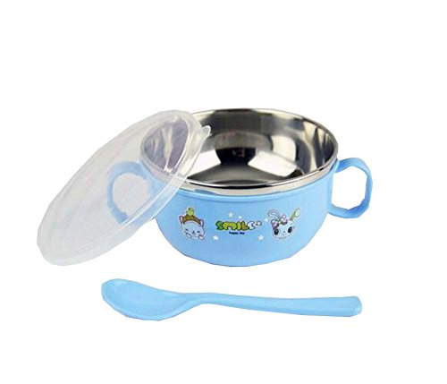 Baby Eating Utensil Home Kids Dishes With Handle and Lid Bow
