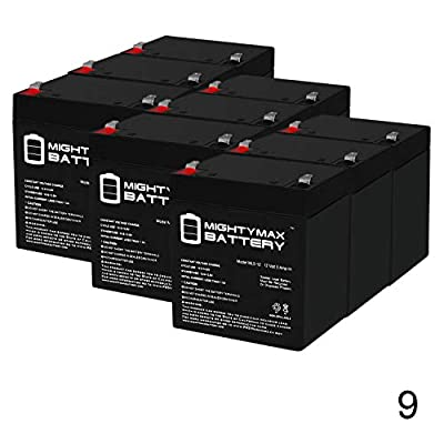 Mighty Max Battery ML5-12 - 12V 5AH Replacement Battery for RBC29, RBC30, RBC42, RBC43, RBC44-9 Pack Brand Product : Sports & Outdoors