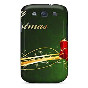 High Quality ShaCke Merry Christmas Tied With A Bow Skin Case Cover Specially Designed For Galaxy - S3