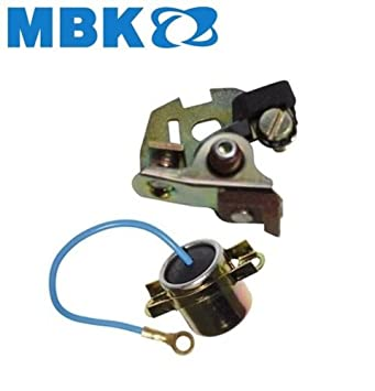 MBK 41 51: CONDENSOR DE CAPACITOR + PUNTOS DE CONTACTO DE PUNTO DE BRAKER CLUTCH IGNITION RUN MOPED MOTOCONFORT MOTOBECANE MOTORCYCLE MOTORBIKE: Amazon.es: ...