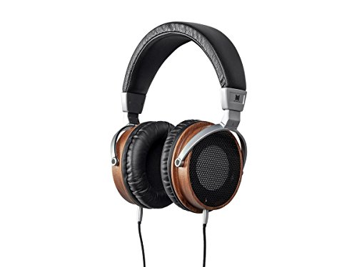 Monolith M650 Over Ear Headphones - Black/Wood with 50mm Driver, Open Back Design, Light Weight, and Comfort Ear Pads
