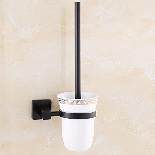 HYP European black hotel bathroom toilet brush toilet brush bathroom stainless steel antique toilet brush cup holder set
