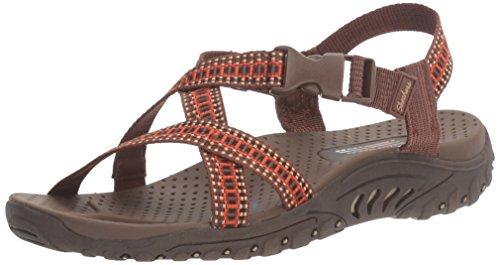 Zehe Reggae Sandale Orange Skechers Ring Brown 1SRq5v5xw