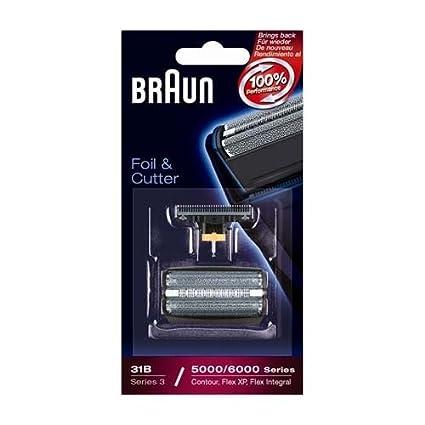 Braun- Juego de láminas de recambio y portacuchillas para afeitadoras Braun Series 5414, 5610