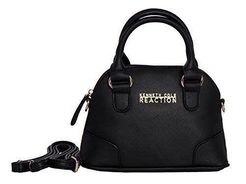 Kenneth Cole REACTION KN1476 Dome Mini Crossbody Messenger Purse Shoulder Bag (Black)
