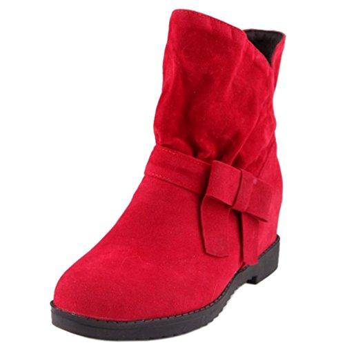 Casuales Mujer de Alto Botas Tacon Red 1235 RAZAMAZA Interior Cuna para 5c8SnxB
