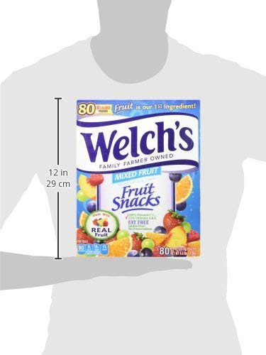 Welch's Fruit Snacks, Mixed, 0.9 Ounce, 80 Count - Pack 2 by Welch's (Image #5)