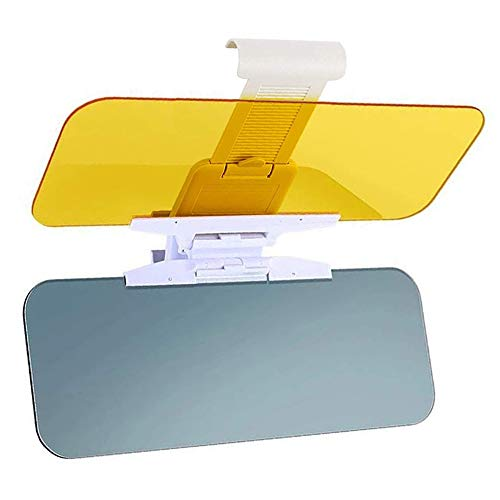 Yanztech Car Sun Visor Day and Night Vision Anti-Glare Visor, 2 in 1 Car Sun Visors, Transparent Windshiled Glass, Blocking UV Rays Windshield Driving Visor
