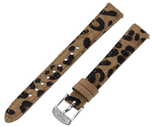 Fossil Women's S141068 Leather 14mm Watch Strap - Cheetah Print
