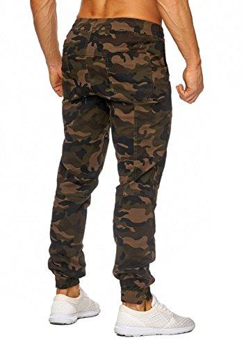 Hommes Cargo Pantalon Alpha ID1449 Regular Fit, Farben:Braun;Größe-Hosen:2XL