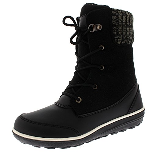 Womens Casual Winter Boots (Polar Products Womens Snow Duck Winter Durable Thermal Waterproof Ankle Boots - Black - US9/EU40 - YC0509)