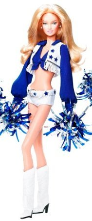 Dallas Cowboy Cheerleader Blonde Barbie ( Barbie ) Doll by Mattel doll doll figure ( parallel import -