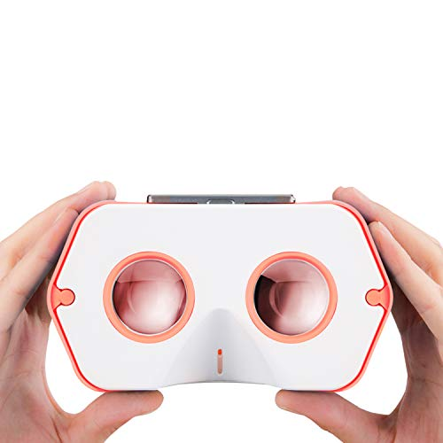 DSCVR VR Viewer | Google Cardboard v2 Inspired | Compatible with iPhone and Android |Best Tech Gifts for Teens (Orange)