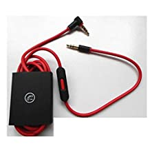 3.5MM Replacement Remote Mic Volume Control Cable Cord for Beats Studio by Dr.Dre Headphones Earphone Headset