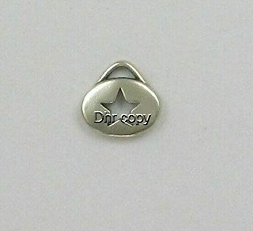 Pendant Jewelry Making/Chain Pendant/Bracelet Pendant Sterling Silver Cut Out Star Charm