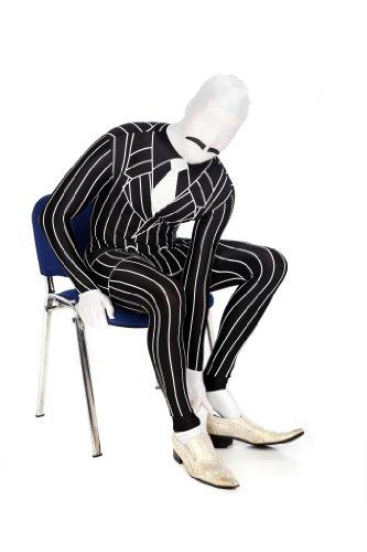 Morphsuits Men's Gangster Fancy Dress Costume, Pin Stripe, -