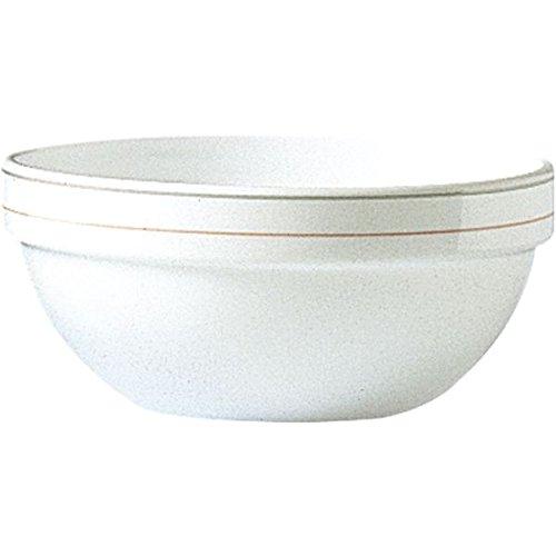 Opalglas 6 St/ück ArcorocValerie Suppensch/üsseln in wei/ß rosa graues Liniendekor F/üllmenge: 315 ml