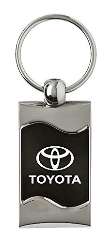 INC Toyota Toyota Rectangular Black Car Key Chain Ring Fob Au-Tomotive Gold