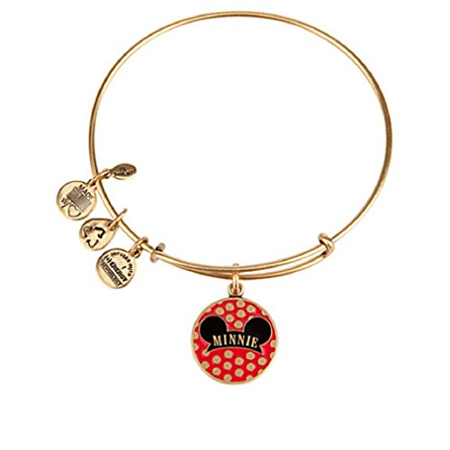 Disney - Minnie Mouse Bangle By Alex and Ani - Gold - New