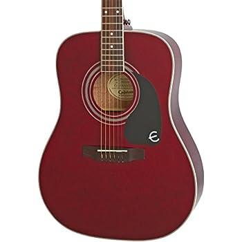 epiphone pro 1 plus solid top acoustic guitar system for beginners translucent wine. Black Bedroom Furniture Sets. Home Design Ideas